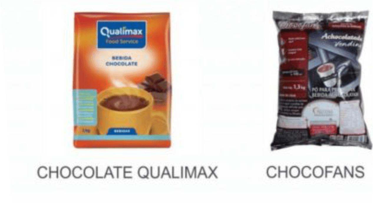 chocolates em pó