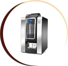 máquina de café cinza